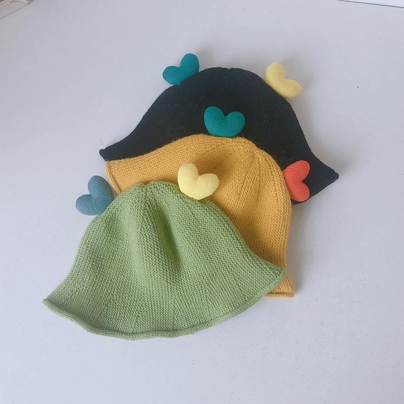 婴儿宝宝帽子可爱超萌春秋针织儿童渔夫帽韩版男女童潮秋冬婴幼儿