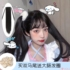 jk double ponytail strappy curly hair straight hair cute soft girl lolita realistic net red loli high ponytail wig piece