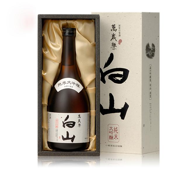 日本囹�a�l#�+_日本清酒白山纯米大吟酿清酒原装进口米酒720ml礼盒装