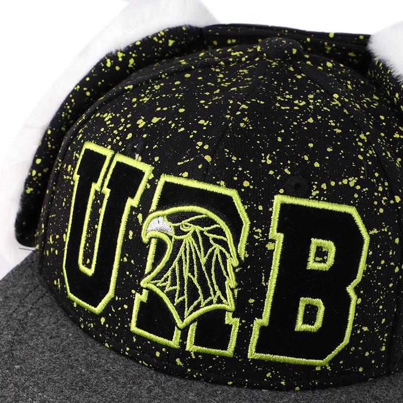 HATSON男童女童冬季儿童帽子时尚潮流休闲帽透气护耳棒球帽