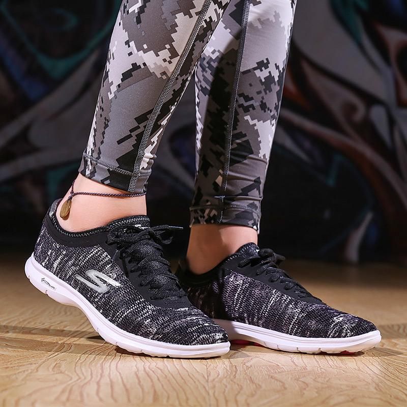 skechers斯凯奇女鞋2018夏新款运动休闲鞋网布健步鞋跑步鞋14200