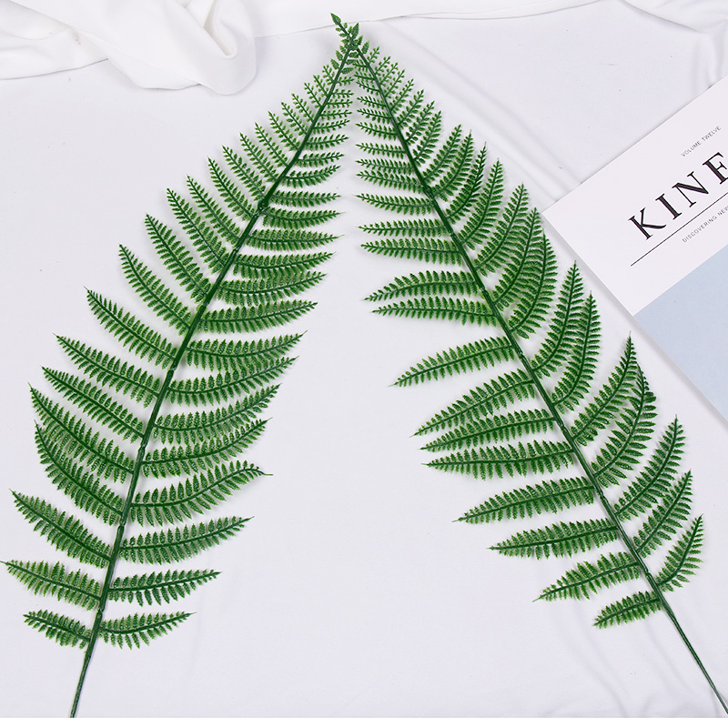 ins风韩国极简风仿真树叶植物塑料松枝叶子拍照摄影背景摆拍道具