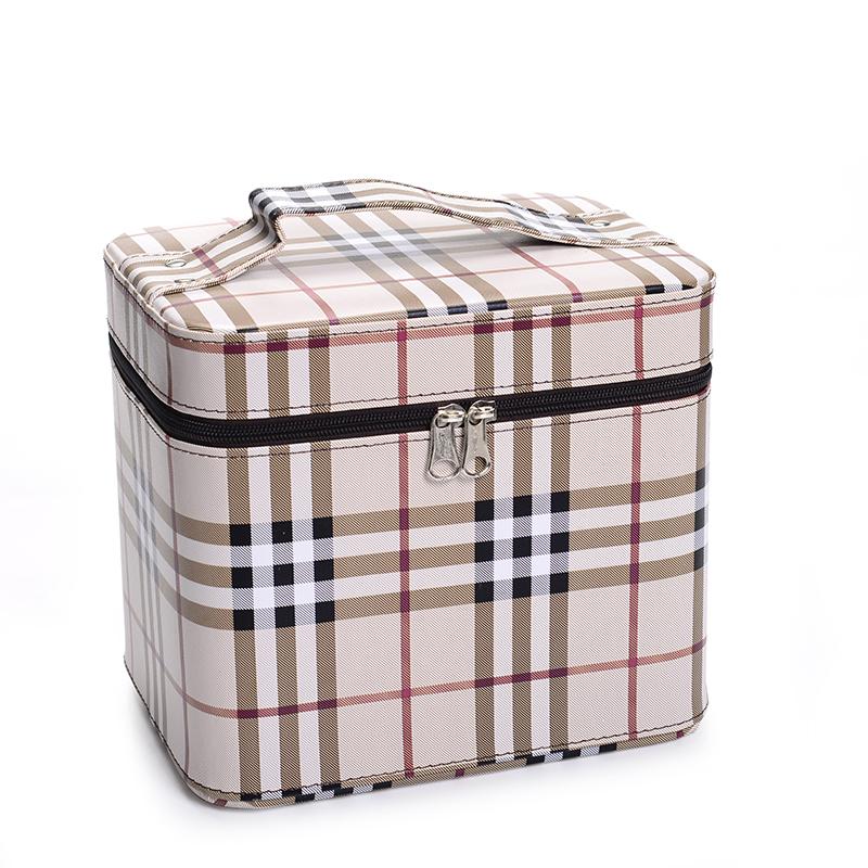 大容量女士化妆包 手提定型化妆箱 洗漱洗浴美容化妆品旅行箱包袋