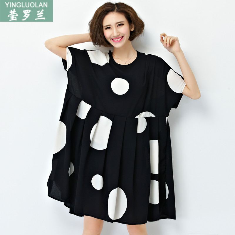 a3c78c6a9f1c Buy 200 can wear summer dress short sleeve dress three hundred of fat fat  mm large size women dress fat woman fat clothing section in Cheap Price on  ...