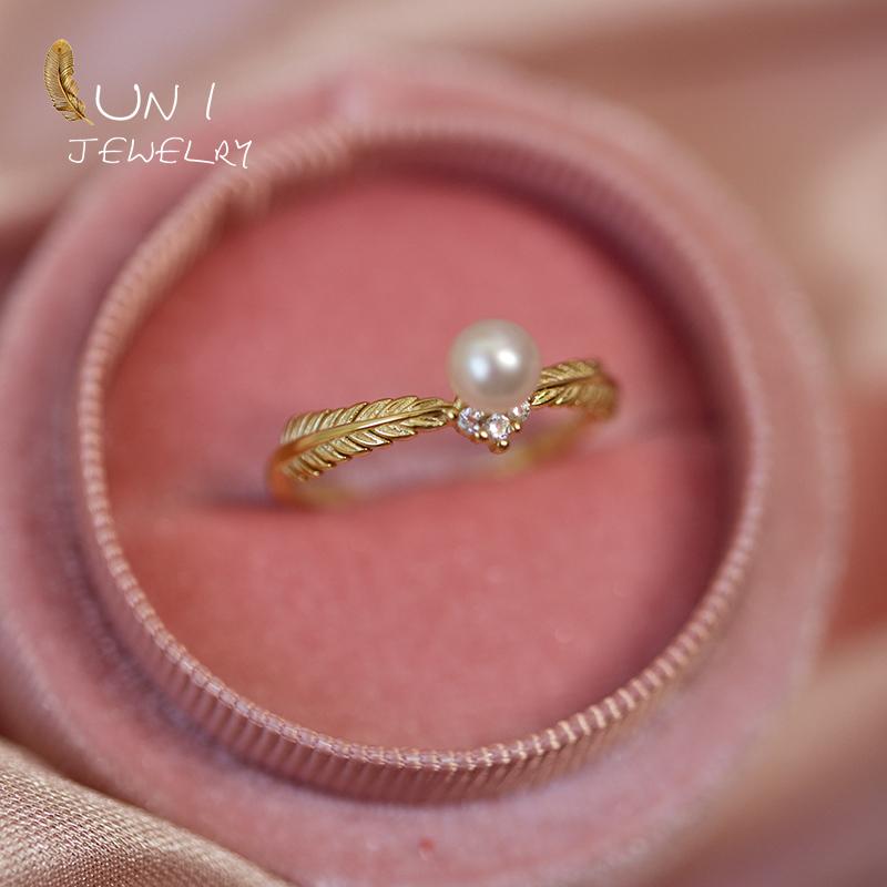 圆小珍珠戒指戒圈调节精银镀金 baby 店主自留金麦穗天然 希腊神话
