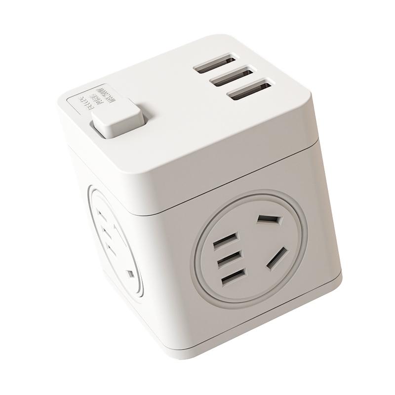 插排插线板面板多孔家用多功能插座 USB 魔方插座转换器插头无线