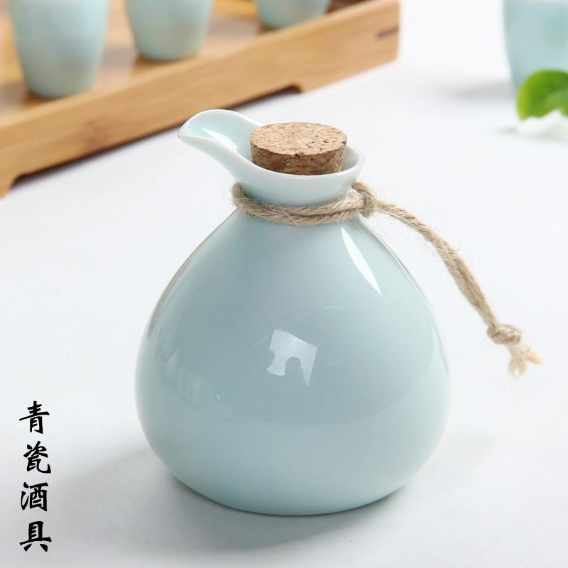 陶瓷酒具套装白酒酒杯半斤温酒壶烫酒瓶黄酒分酒器酒盅日式清酒具