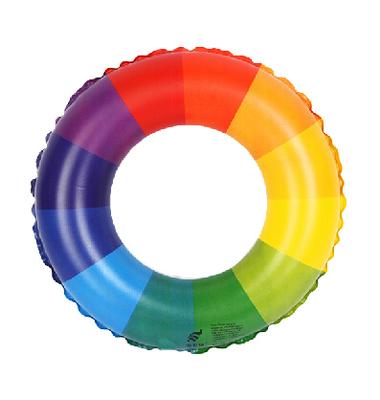 彩虹鲜橙水果泳圈 超可爱儿童成人救生圈 游泳圈戏水玩具 加厚型