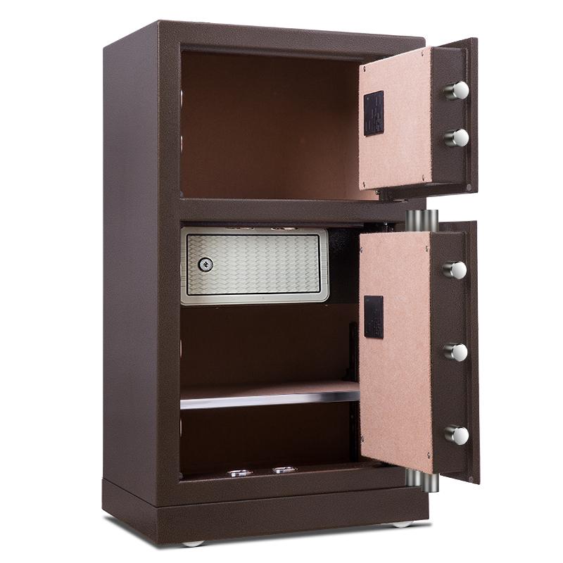 得力保险箱/保管箱33033系列电子密码双门办公家用保管箱 高80cm