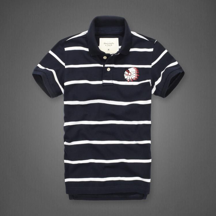 夏季新款af短袖T恤男士POLO衫 纯棉翻领半袖修身上衣条纹韩版包邮