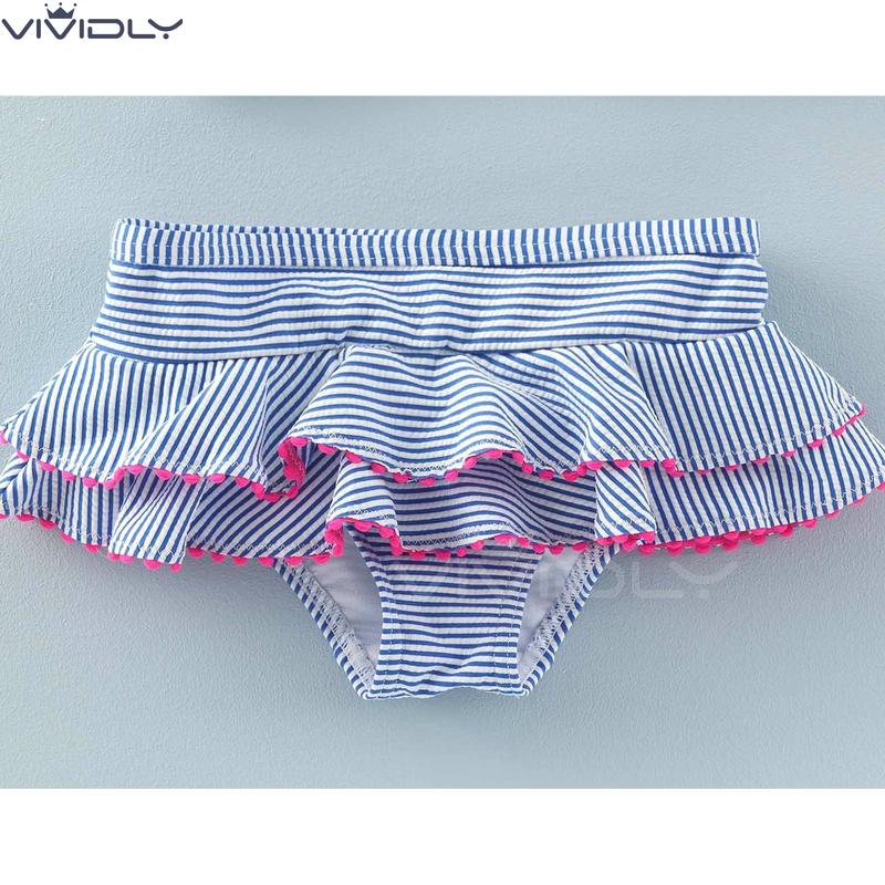 现货  MiniBoden春夏女童UPF50防晒分体泳衣 儿童比基尼 2-4岁