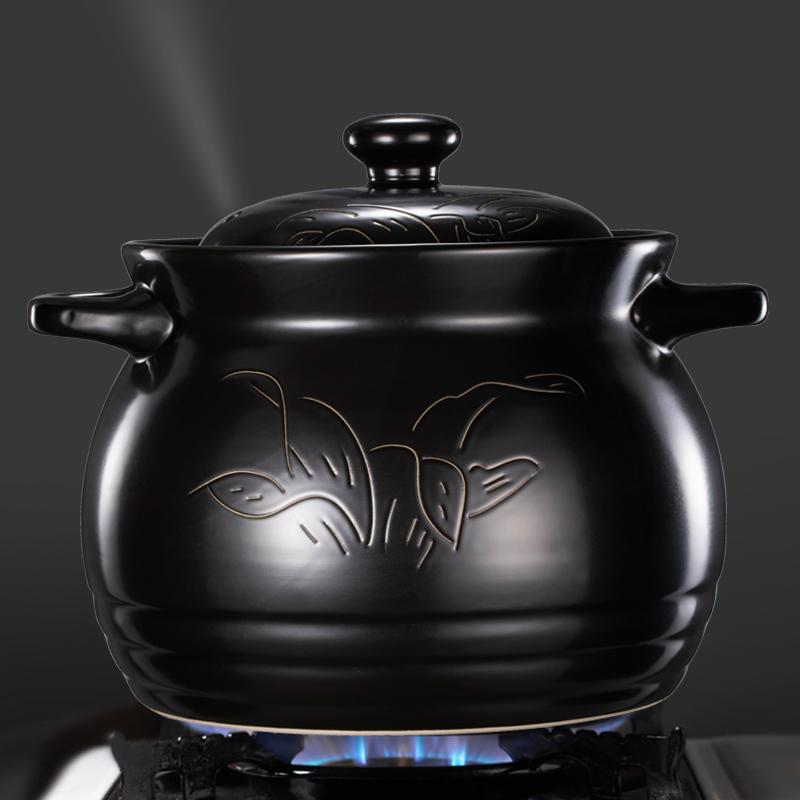 小主吉祥砂锅炖锅 家用燃气煲汤锅陶瓷锅 大号耐高温炖汤沙锅汤煲