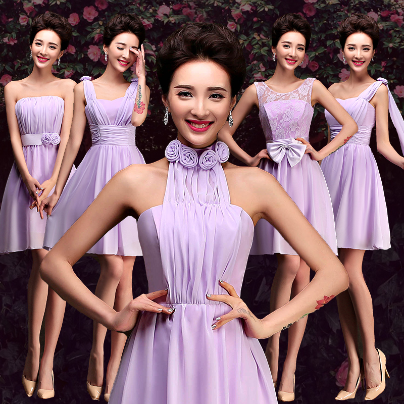 f5ccf1c06983 Buy 2016 new korean mission bridesmaid dress bridesmaid dress short  paragraph sister sister dress graduation dress champagne evening dress in  Cheap Price on ...