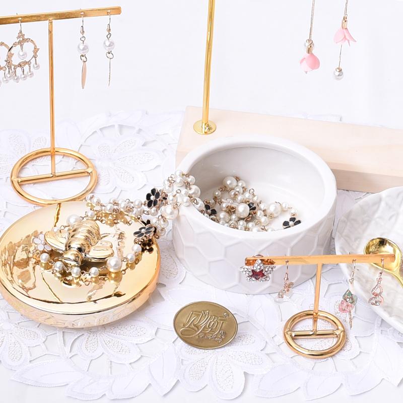 金色小蜜蜂陶瓷首饰盒装饰盆珠宝糖果收纳盘戒指项链耳钉耳环盒