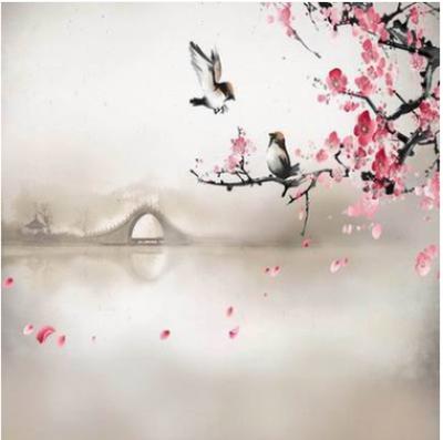 索顿古装全家福主题摄影背景盘子女人坊婚纱影楼写真中国风背景