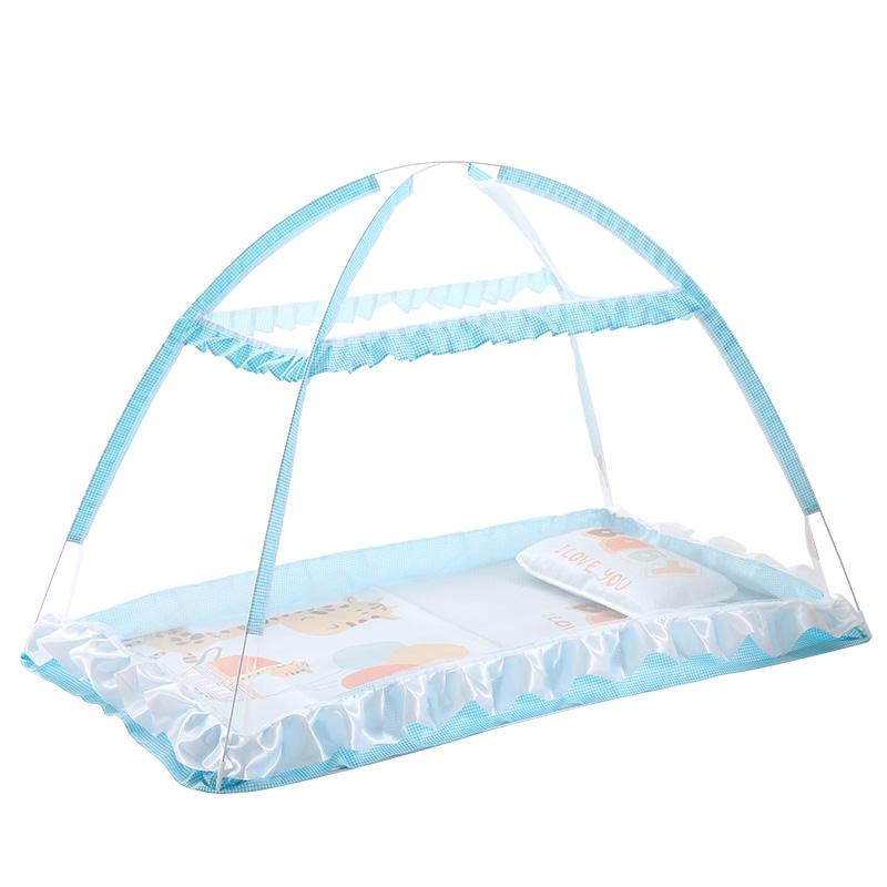 婴儿蚊帐罩儿童蚊帐新生儿bb床蒙古包可折叠无底防蚊罩宝宝蚊帐