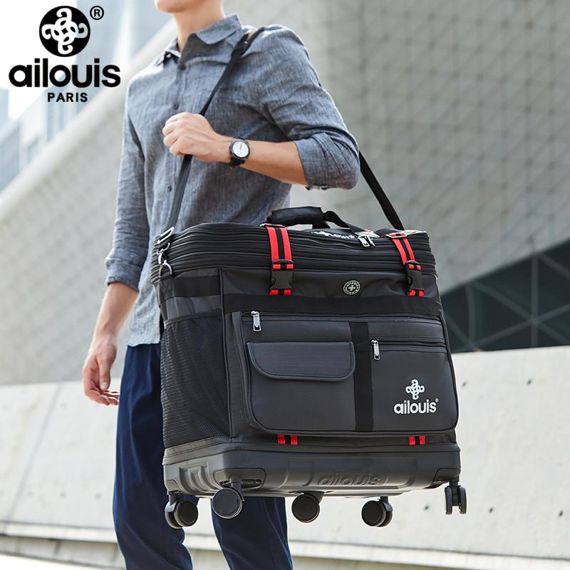 底旅行包搬家移民留学折叠袋 PC 航空托账包 158 法国爱路易超大容量
