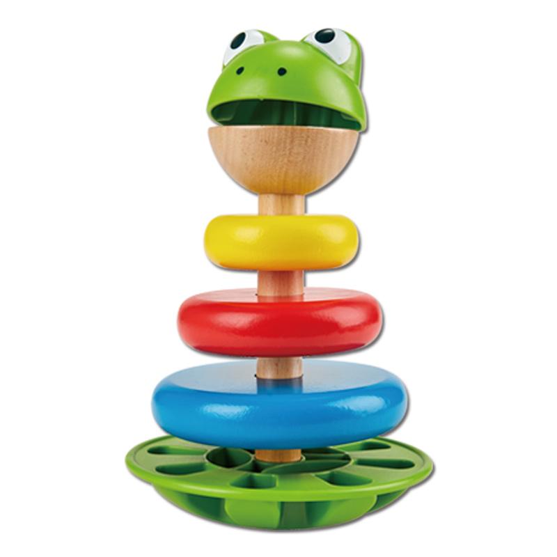 Hape儿童叠叠乐 套塔积木不倒翁 小丑堆塔 宝宝益智玩具1-2岁套圈