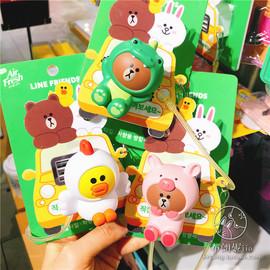 韩国LineFriends布朗熊可爱汽车香水出风口车载香水香薰摆件替换
