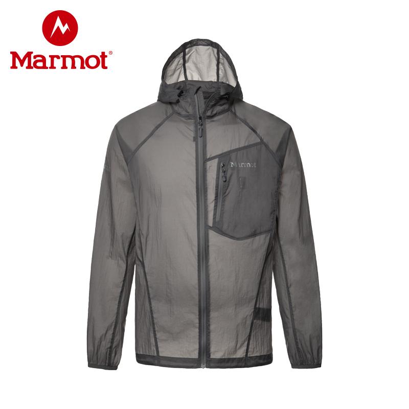 marmot R51270  土拨鼠新款夏季户外超薄透气男士皮肤防晒衣风衣外套