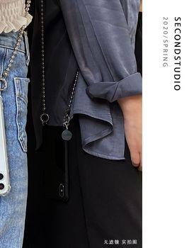 原创个性金属链 iphonexs斜挎8p软壳