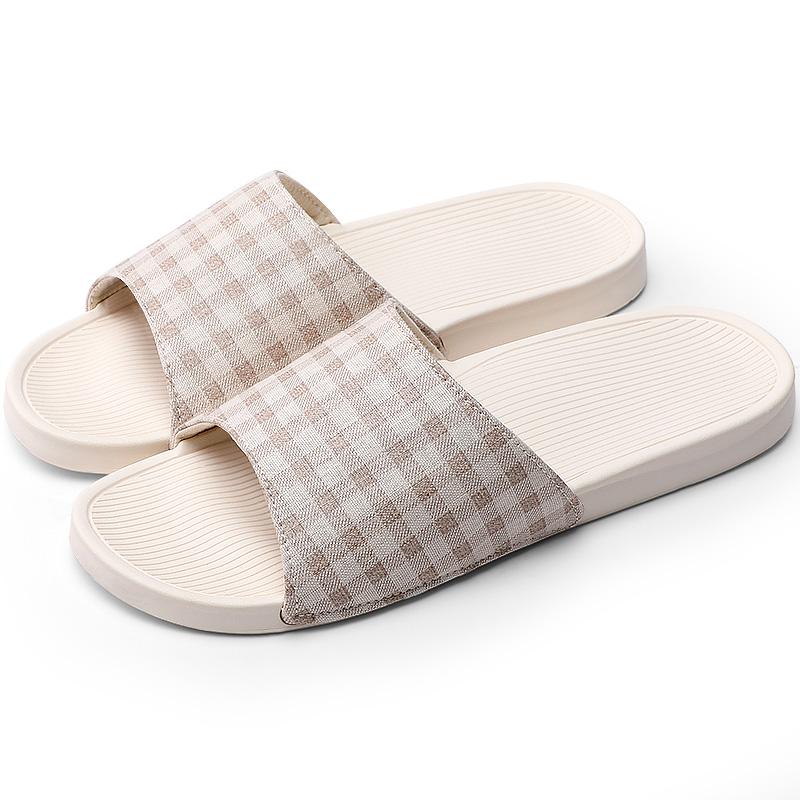 朴西情侣防滑家居拖鞋夏季 室内居家厚底凉拖鞋男家用拖鞋女夏