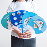 Korean version of the creative cartoon small fan package mail summer students children cute mini portable portable plastic hand shake fan