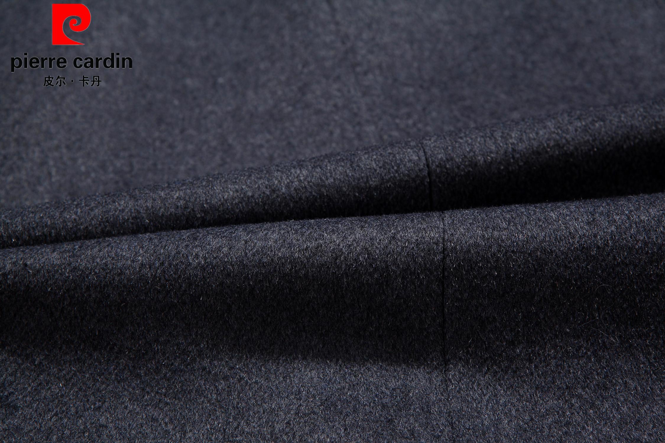 皮尔卡丹秋冬新款中老年羊绒大衣男加厚风衣中长款爸爸装毛呢外套