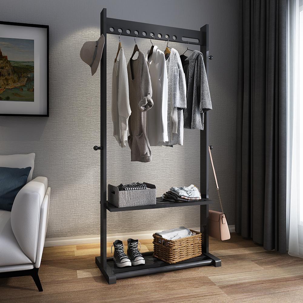 多功能实木衣帽架落地简易家用创意衣服架子简约现代卧室挂衣架