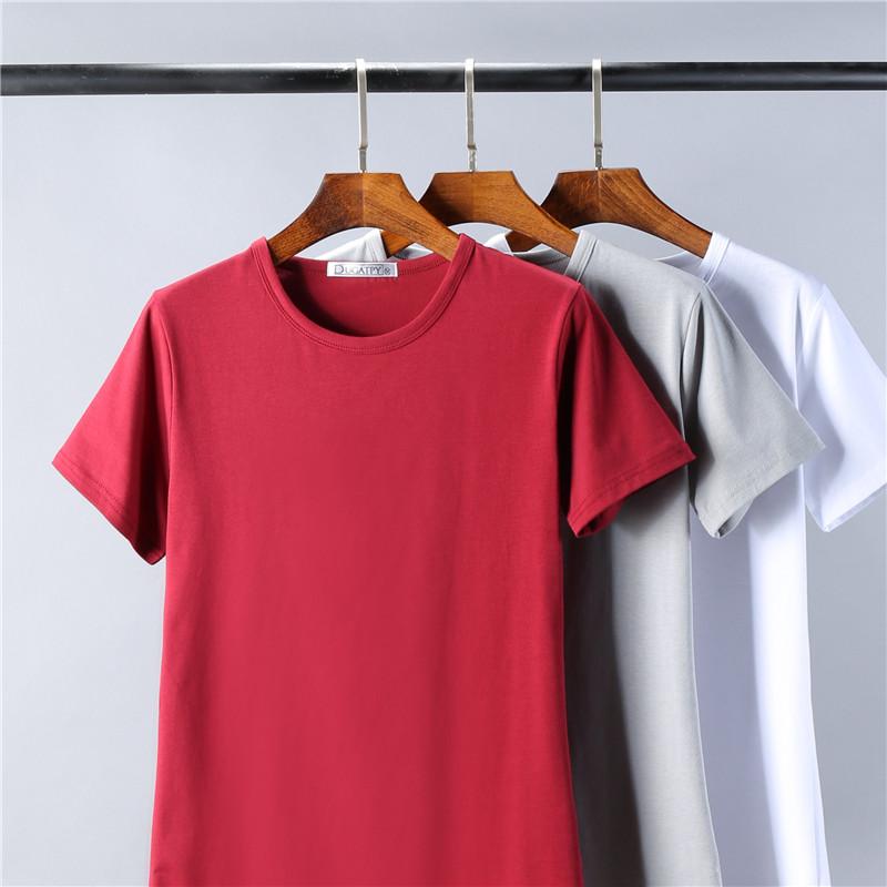男士学生纯色短袖t恤体恤白色修身紧身打底衫夏季男装潮半袖衣服
