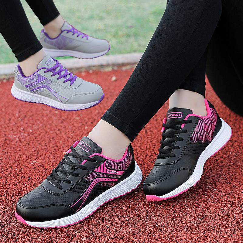 韩版运动鞋女鞋子2019新款百搭学生平底鞋网面透气软底跑步休闲鞋