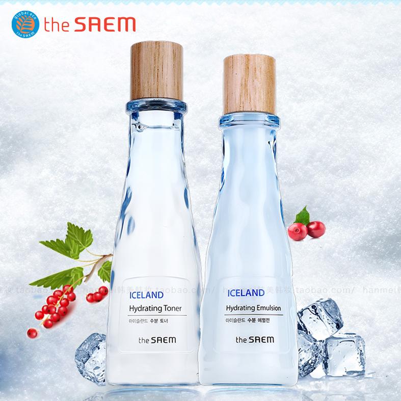 the SAEM得鮮冰島補水保溼水乳套裝兩件套學生韓國清爽護膚正品