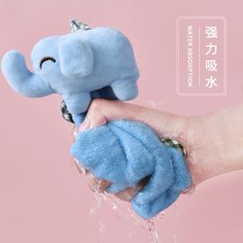 擦手巾挂式儿童擦手吸水卡通非纯棉搽手巾家用可爱韩国干手巾毛巾