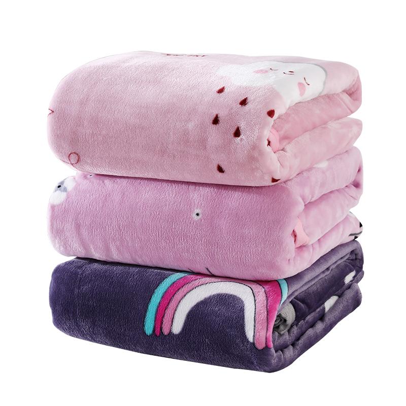毛毛雨法兰绒毛毯被子珊瑚绒空调毯午睡毯床单人双人宿舍学生冬季