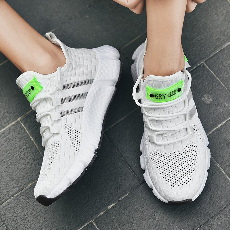 男鞋女鞋情侣款运动跑步鞋减震椰子鞋爆米花休闲鞋透气夏季网面