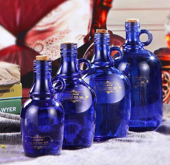 藍色太陽水瓶歸零清理工具零極限玻璃瓶ceeport夏威夷療法清理貼