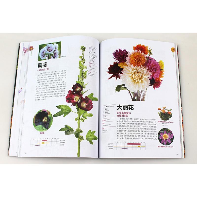 山田幸子花藝園藝鮮花朵花卉花名由來常用花語開花時節顏色分類種植信息手冊書籍花語大全書 種常見四季花卉手冊 184 花與花語