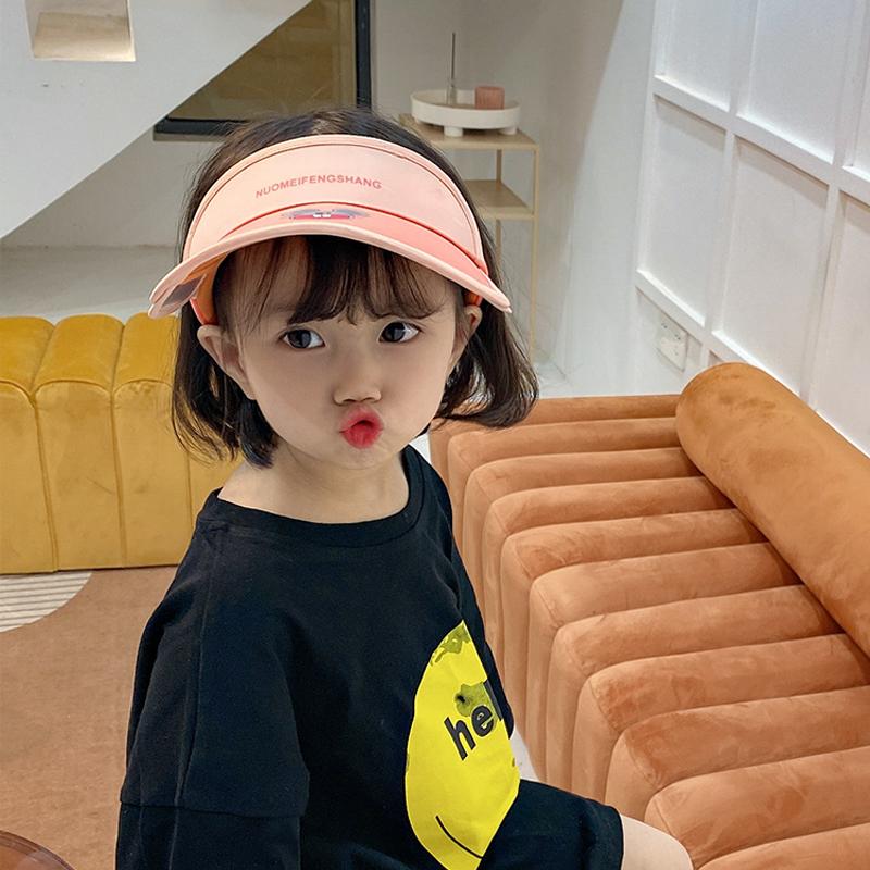 儿童空顶帽子防紫外线太阳帽男童女童遮阳防晒夏季大帽檐宝宝鸭舌