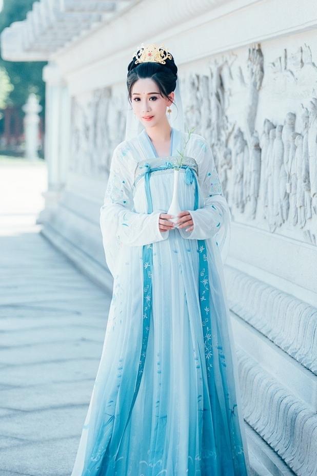 汉服女改良齐胸襦裙日常汉服夏中国风古装仙女裙飘逸清新淡雅