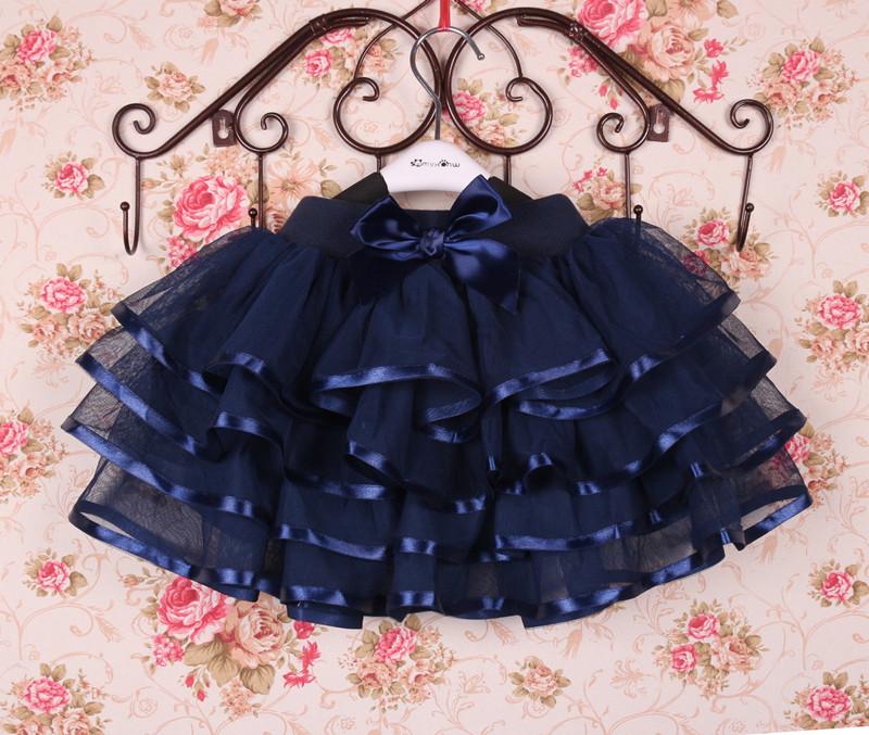 秋冬女童纱裙儿童蓬蓬裙蛋糕裙宝宝半身裙公主演出短裙小孩舞蹈裙