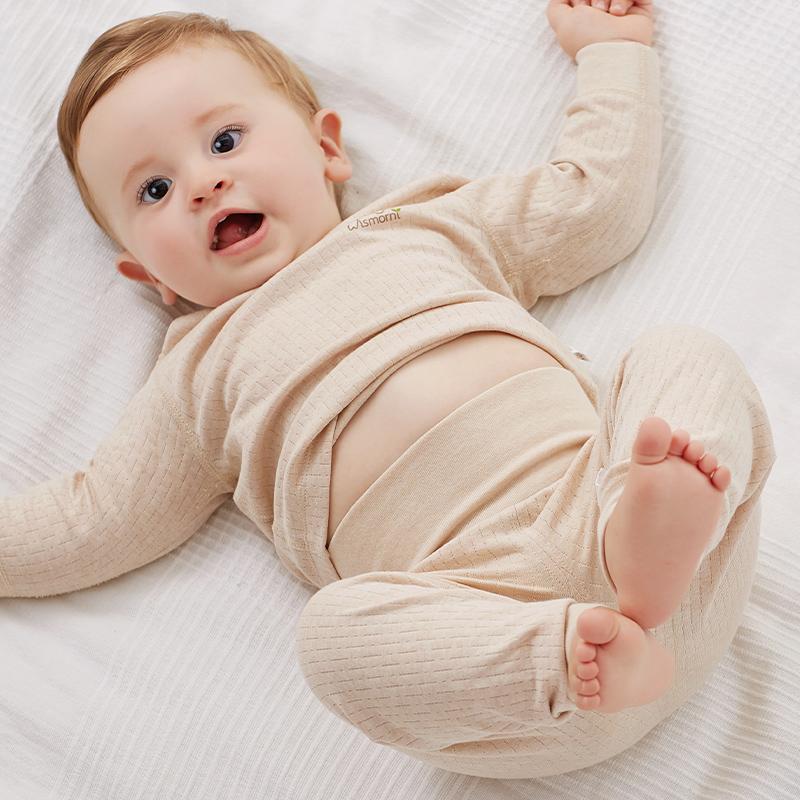 宝宝秋衣秋裤套装纯棉婴儿高腰护肚保暖内衣服儿童打底棉毛衫秋冬