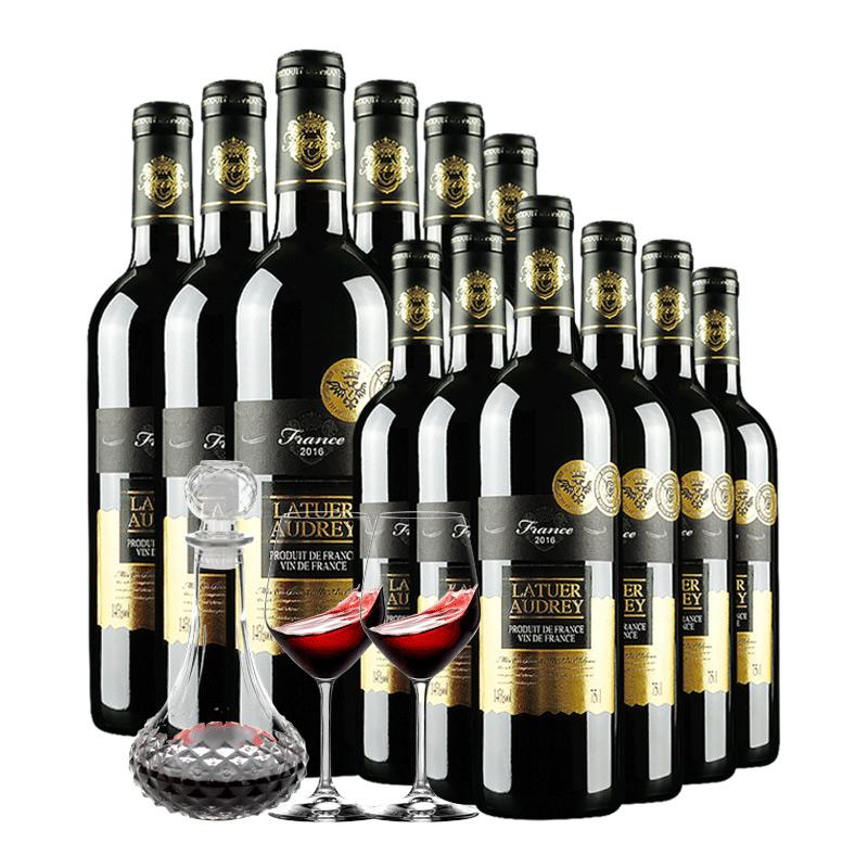 拉图奥黛丽法国原装原瓶进口红酒葡萄酒整箱赤霞珠 箱 1 箱送 1 买 箱送 箱 箱送 1  买