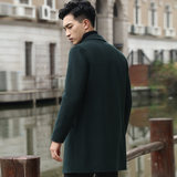 Sakken handmade double-faced woolen woolen coat men's Korean version of the long section of the cashmere Nizi windbreaker thick coat