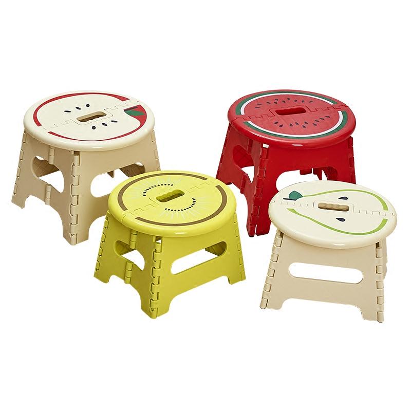 瀛欣加厚折叠凳子卡通塑料便携式矮凳户外创意家用小板凳成人儿童