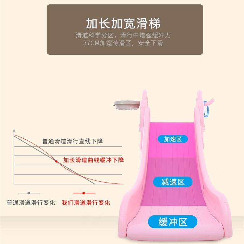 小型加厚滑梯室内儿童塑料滑梯组合家用宝宝上下可折叠滑滑梯玩具