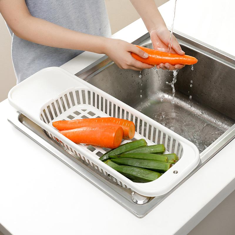 日本進口廚房水槽瀝水架水池餐具杯子奶瓶晾乾洗水果洗菜盆瀝水籃