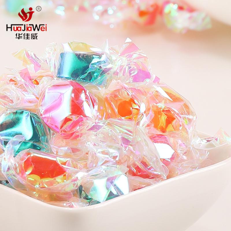 千纸鹤炫彩多彩糖果散装批发过年货礼盒装小零食七彩混合水果味糖优惠券