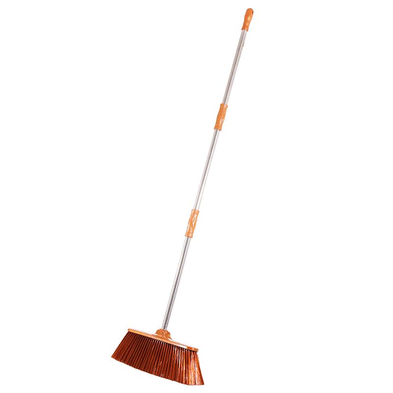 家用户外不弯腰大扫把不锈钢长把笤帚不伤地板扫帚软毛扫把包邮