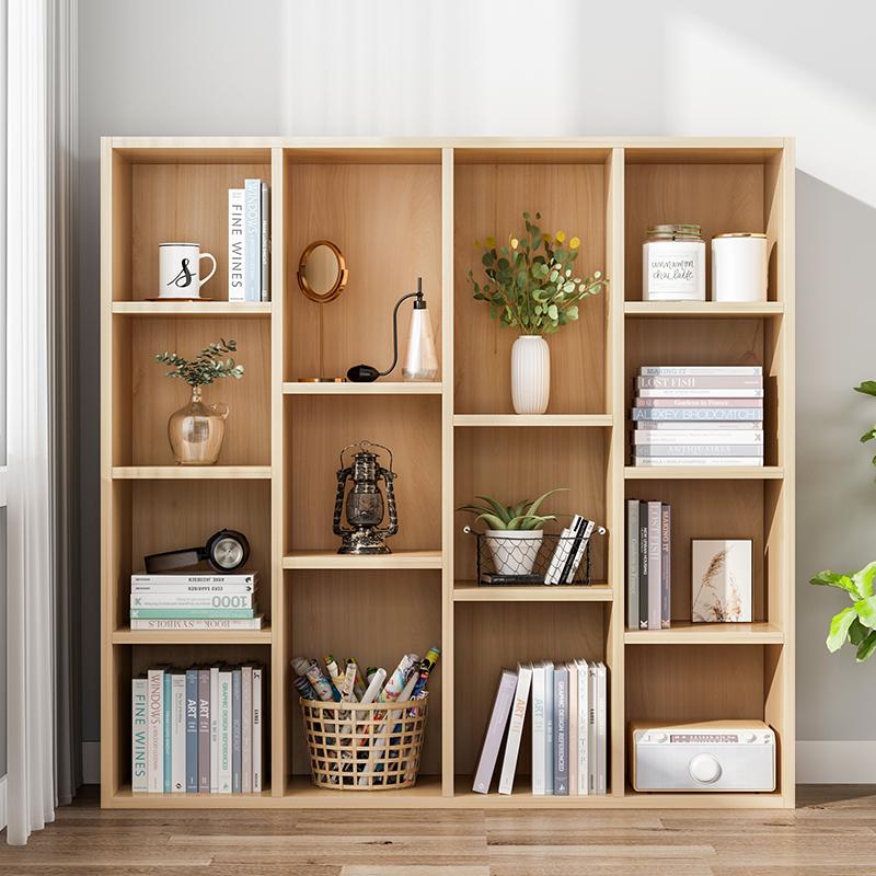 简约书架落地简约现代置物架收纳学生飘窗柜卧室小置物架儿童书柜