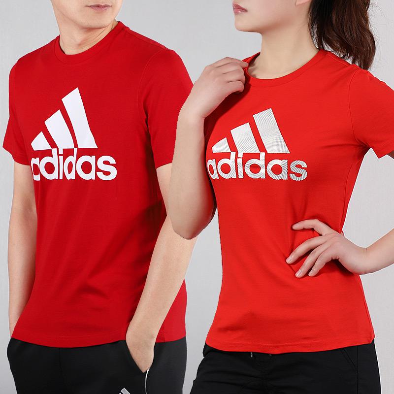 阿迪达斯2020新款运动套装情侣装男女短袖运动服休闲宽松大码T恤